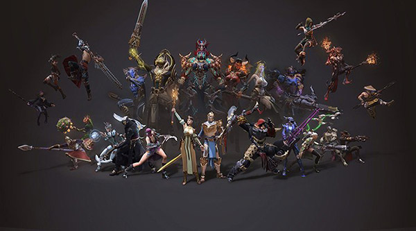 3D модели персонажей игры Skyforge.
