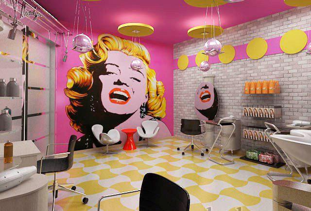 Дизайн салона красоты в стиле поп-арт