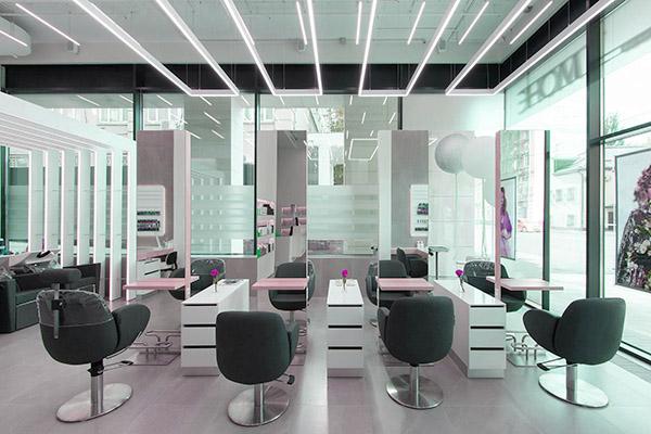 Дизайн салона красоты в стиле хай-тек